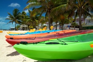 Resort recreation canoes and kayaks - take time to paddle and explore the Turneffe Flats