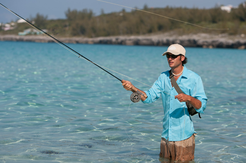 Fly Fishing the Turneffe Flats for tarpon while at Belize Dive Haven