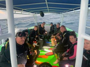 Scuba Dive Boat at Belize Dive Haven
