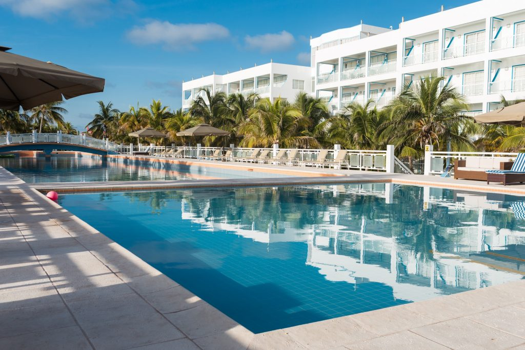 Belize Resort pool view - 260-foot outdoor swimming pool the largest in the hemisphere