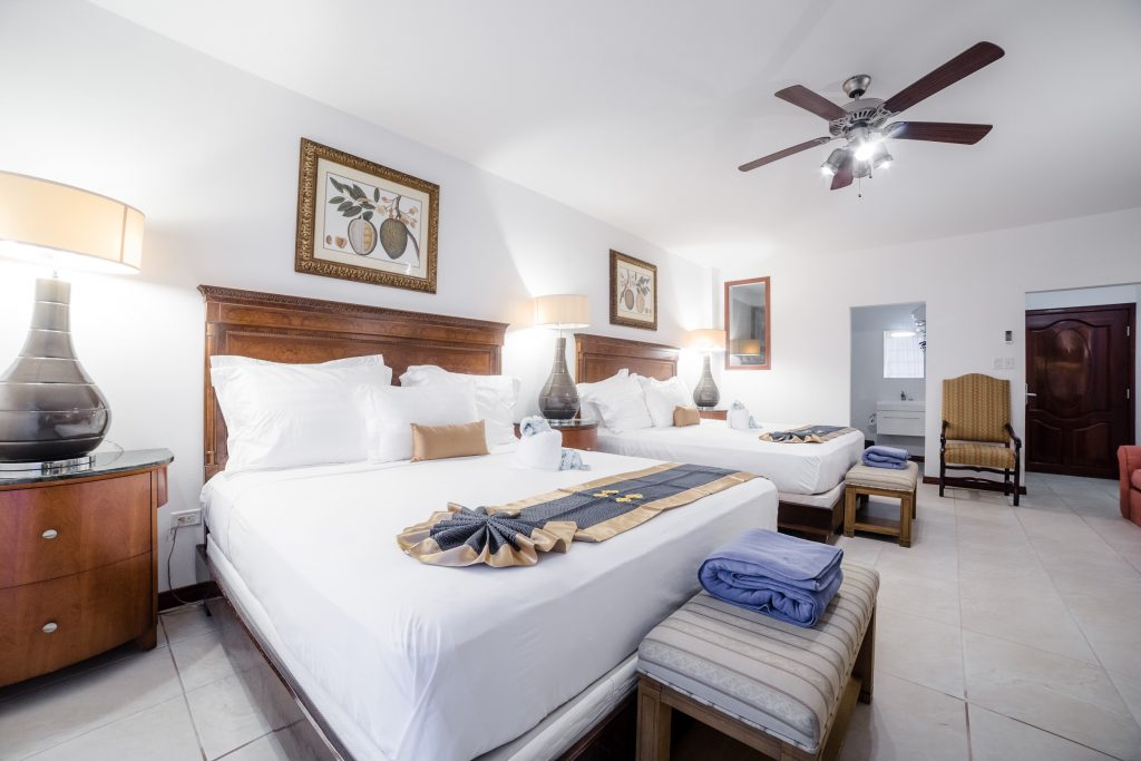 Belize Resort Accommodations Double Beds Hotel Room