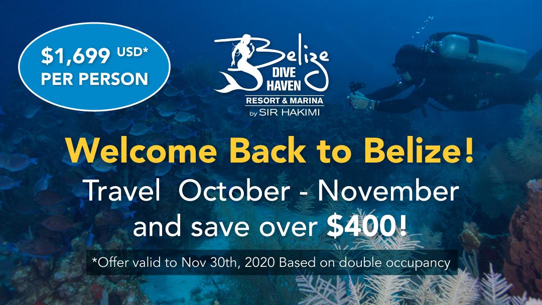 Belize Dive Haven Oct-Nov Sale - Save over $400 per person