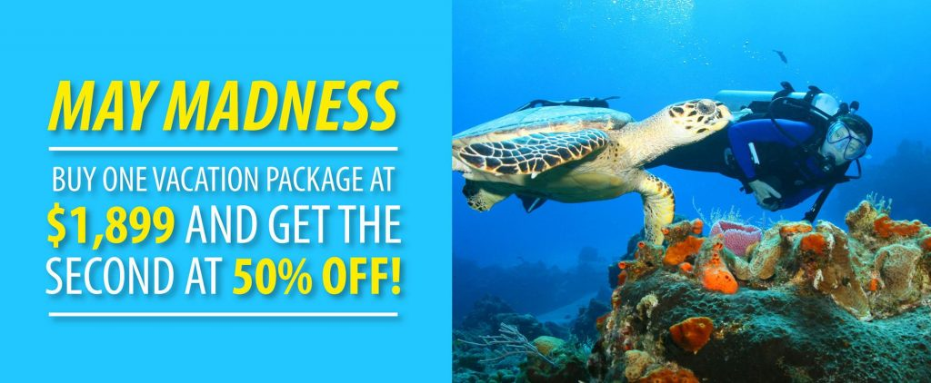 May Diving Vacation Promotion