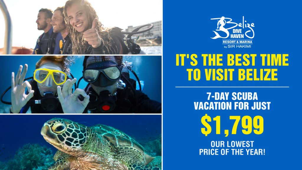 Summer is the best time to visit Belize - our lowest price of the years for a 7-day vacation package - Just $1,799 USD