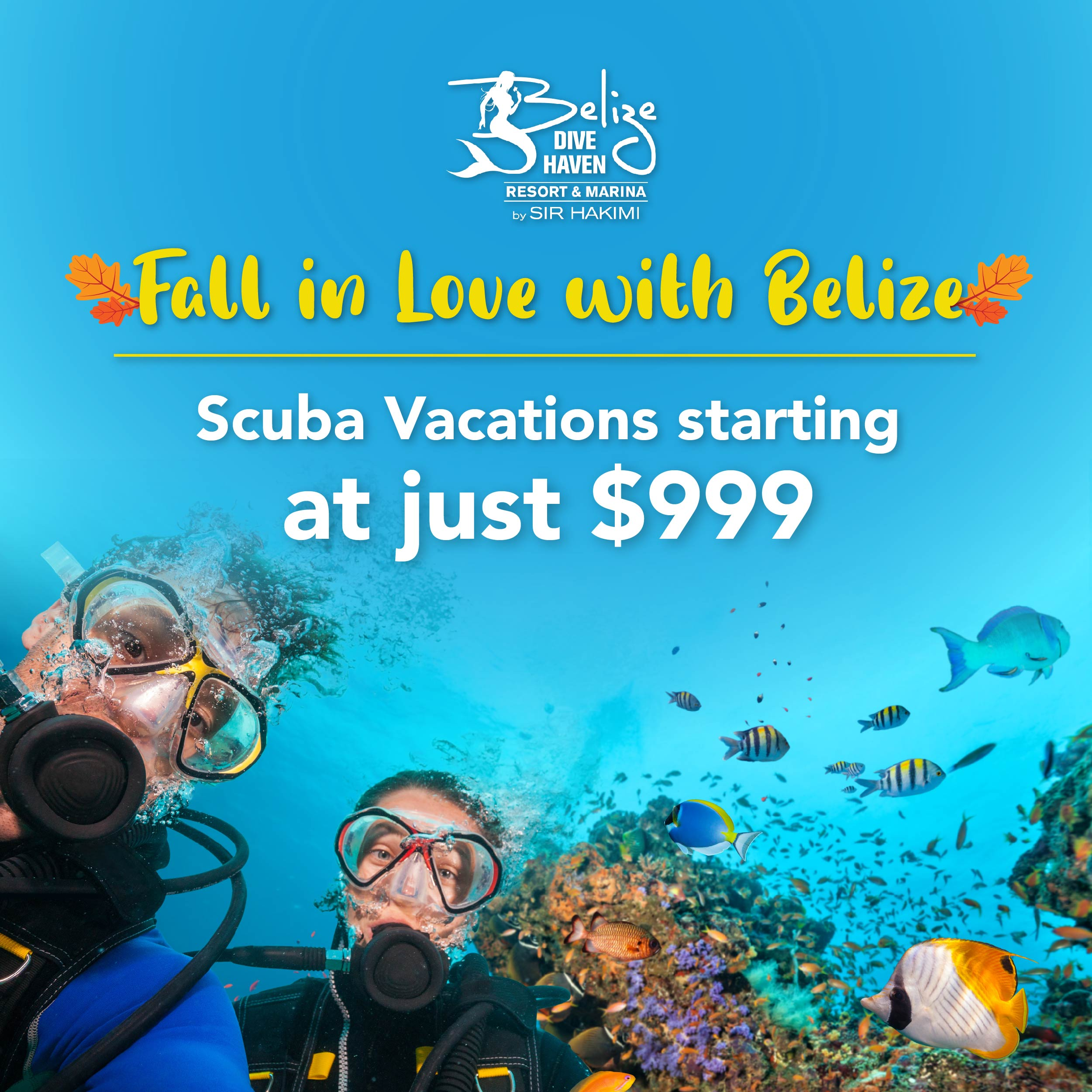 Fall in Love with Belize - Scuba Packages from $999